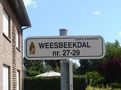 De Weesbeek schonk haar naam aan heel wat straten in haar vallei