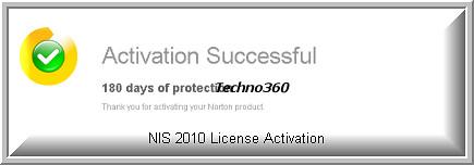 norton internet security 2010 activation key