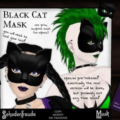 Schadenfreude - Black Cat Mask