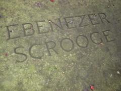 Ebenezer Scrooge's gravestone, Shrewsbury