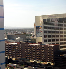 View from our room at the Paris in Las Vegas