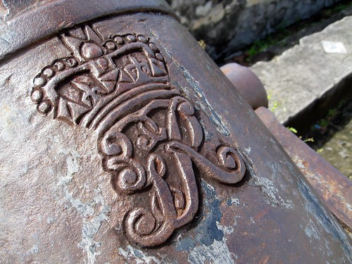 king george's seal on a cannon