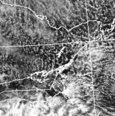 Freckled clouds, satellite image