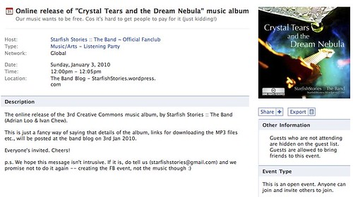 """Online release of """"Crystal Tears and the Dream Nebula"""" music album 