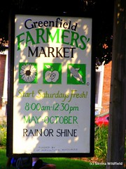 Greenfield Farmers' Market Sign