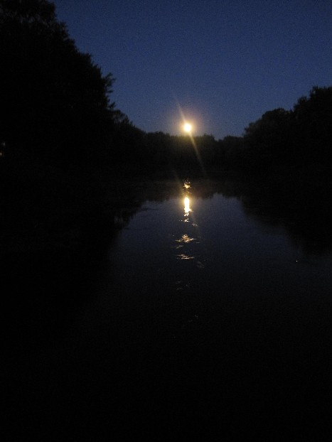 Moon Rise Over the River