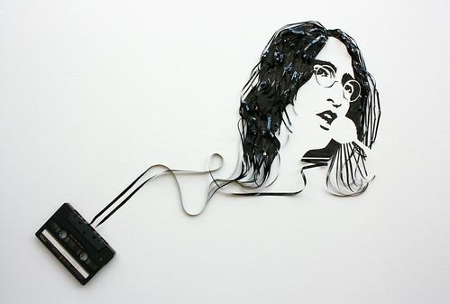 Ghost in the Machine: John Lennon por iri5.