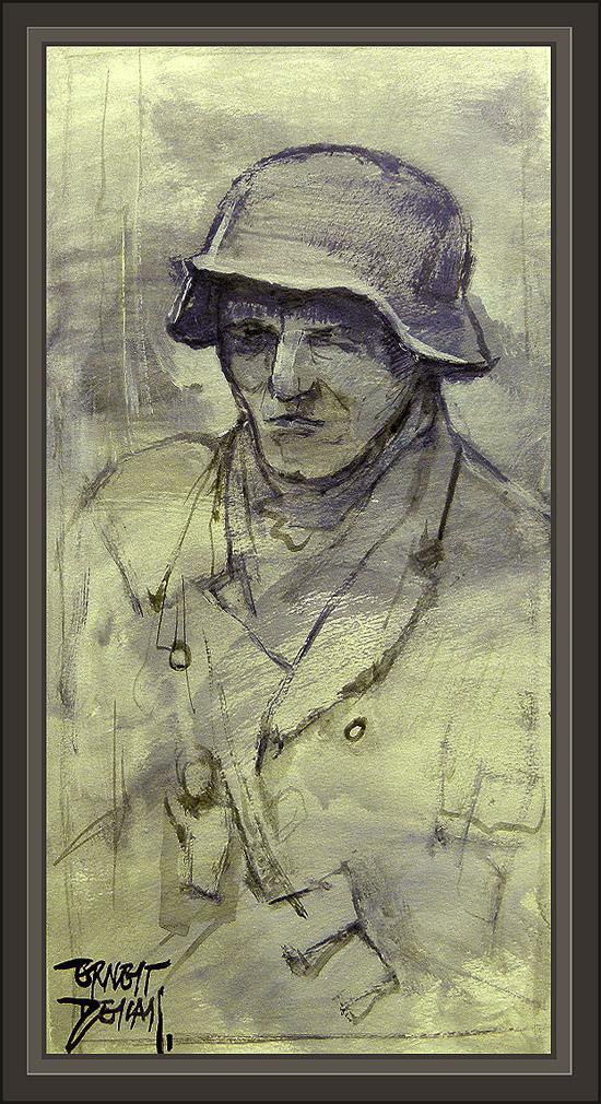 ww2-german soldier-soldado aleman-paintings-pinturas-ernest descals-