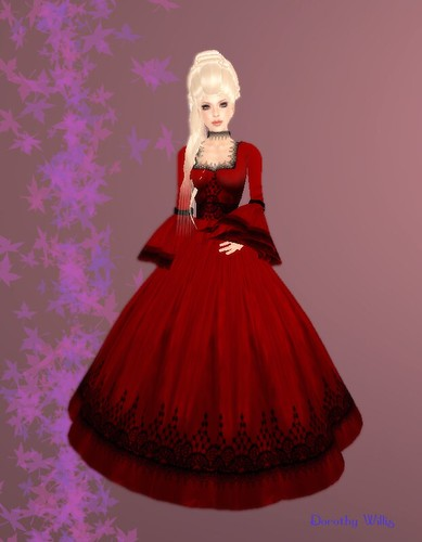 inara - red angel gown