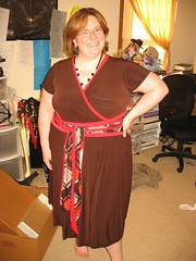 Brown OBI Sash Dress