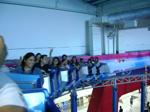 Even adults enjoy this Silver Streak mini-roller coaster at SM Fairview Storyland