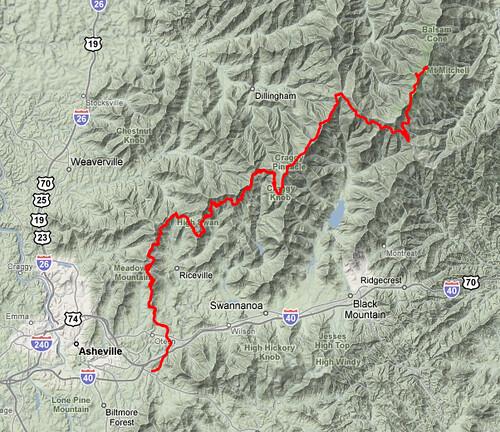 Mt. Mitchell map