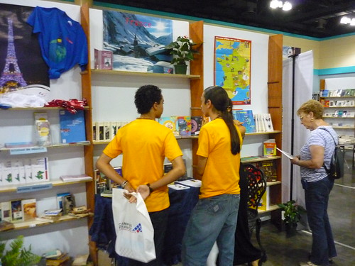 The Alliance Francaise stand at the book fair