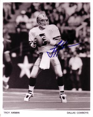 Troy Aikman Autograph