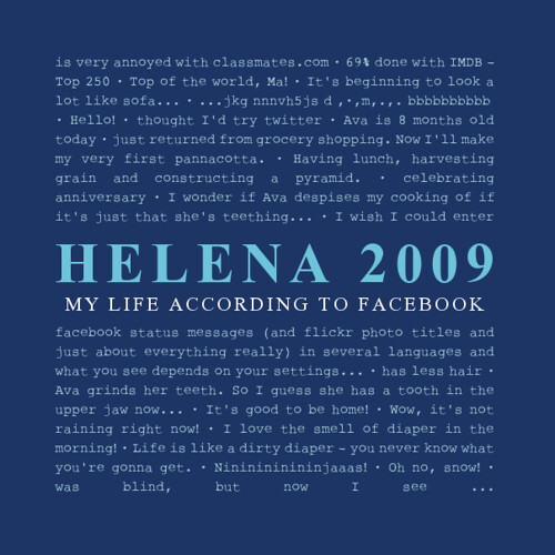 Helena's 2009 according to Facebook