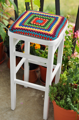 Refashioned kitchen stool