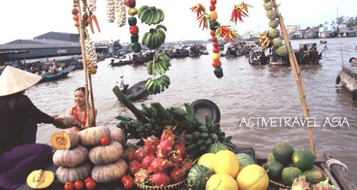 Float market Mekong River, Vietnam by you.
