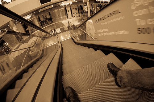 Bajando las escaleras con comodidad