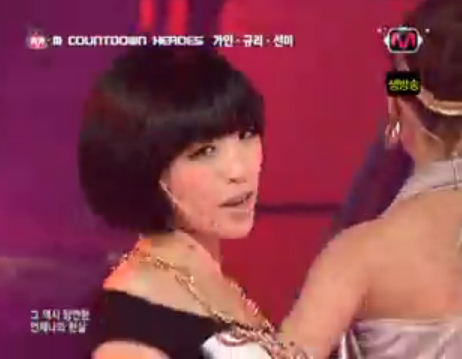 Ga-in covering CSJHs One More Time, OK? with WGs Sun Mi and SeeYas Gyuri