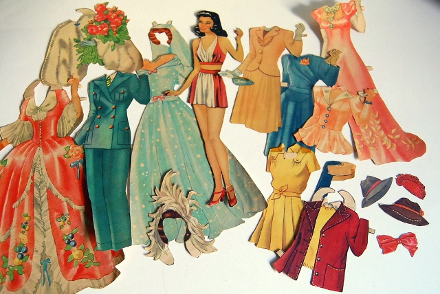 1940s paper dolls 1