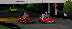 The whole gang go karting in Boone, NC