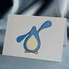 xmas card - penguin flippers