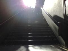 Uscendo dalla metropolitana