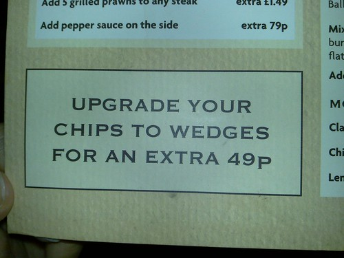 Upgrade your chips to wedges