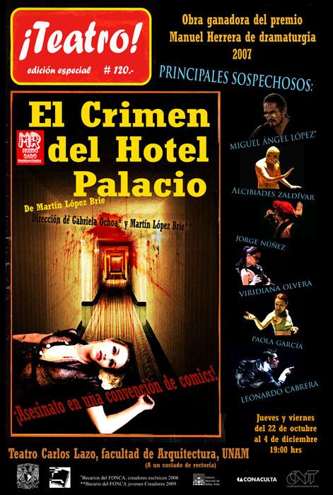 cartel EL CRIMEN DEL HOTEL PALACIO