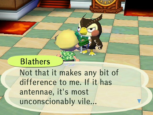 I agree, Blathers!