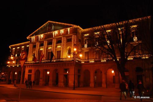 Fachada del Palacio de Navarra desde el Paseo de Sarasate
