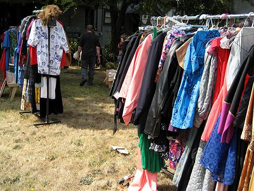 Costume shop yard sale