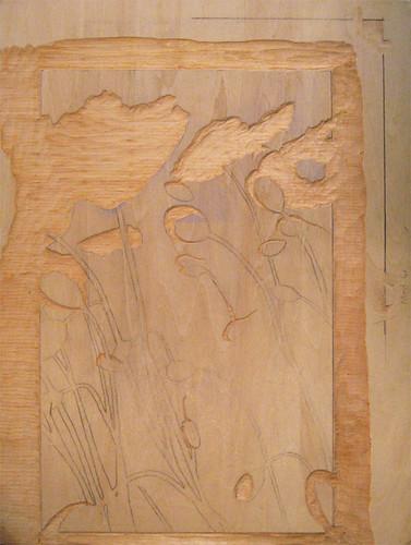 Poppies Triptych I - block 3