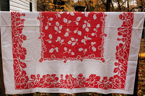 Vintage Monday: A Worn-with-Love Tablecloth