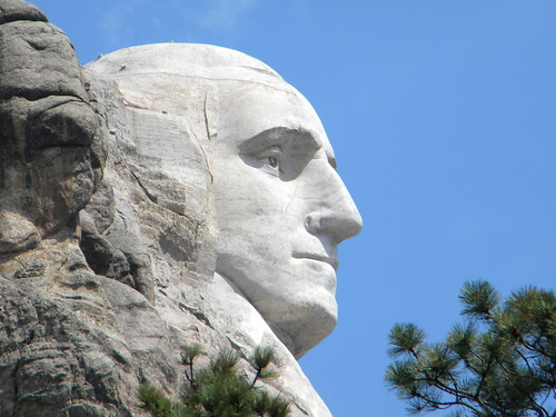 President George Washington on Mount Rushmore.