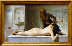 Le massage, scène de hammam (musée des Augusti...