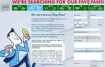 Krispy Kreme FaveFan Promo (http://www.krispykremefavefan.com/)