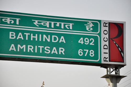 Amritsar 678 Kilometers.