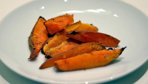 Süßkartoffeln mit Ingwer und Honig