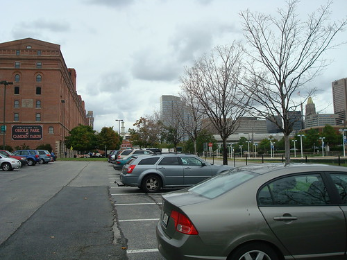The View from Lot C. about four blocks maximum