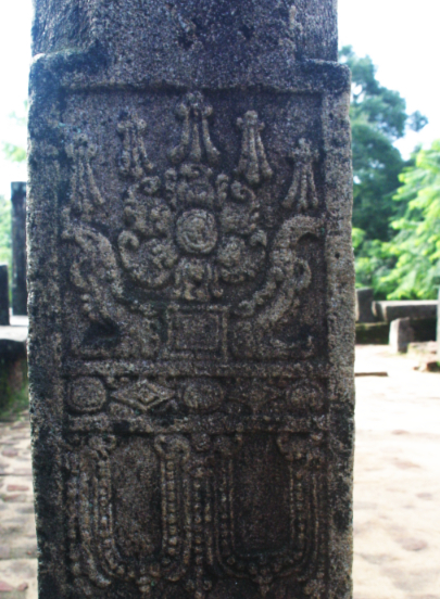 Pillar from 1200s Sri Lanka