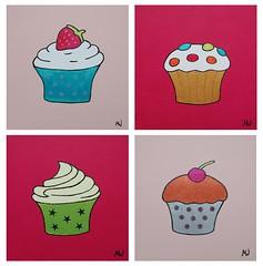 Cupcakes Pink Rose