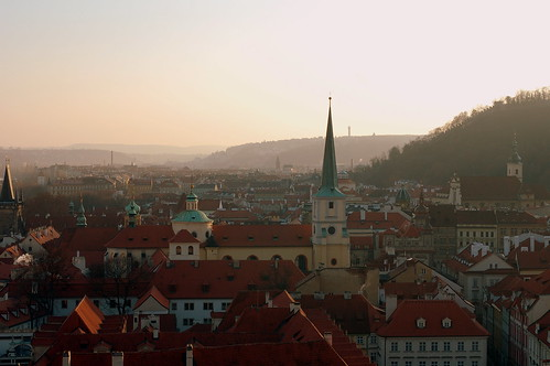 Overlooking Prague from the castle grounds