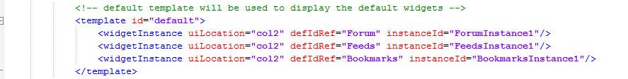 4- default template layout widget-config