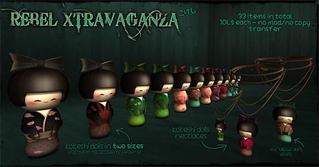 Rebel Xtravaganza's Gatcha Offerings