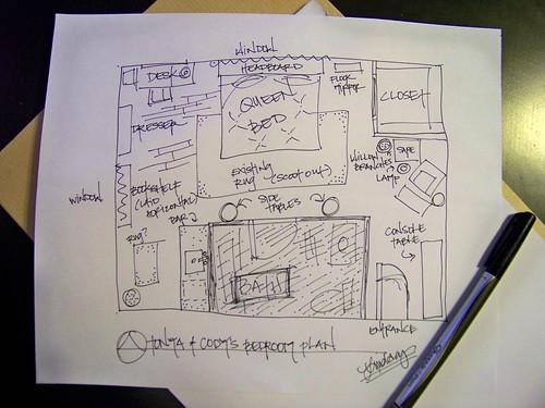 Cody & Tonya's Bedroom Floor Plan