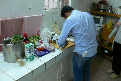 Mr Chef busy preparing