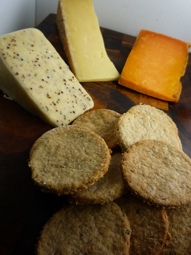 British Cheese and Homemade  Rosemary Oatcakes by you.