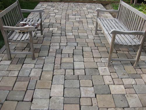 Finished patio