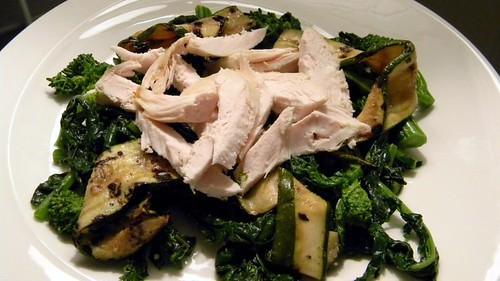 Rapini, zucchini and chicken